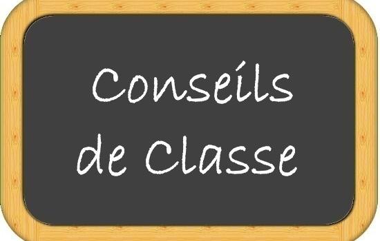 Conseils de classe du 1er trimestre (dates , horaires, salles)
