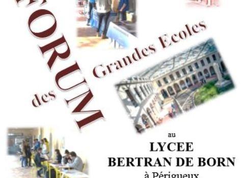 Forum des Grandes Ecoles au Lycée Bertran de Born le vendredi  8 décembre