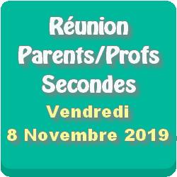 Réunion Parents – Professeurs des classes de Seconde